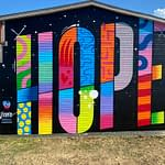 Hope Mural by Jason Naylor at The Knowlton Walls
