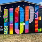 Hope Mural by Jason Naylor at The Knowlton Walls