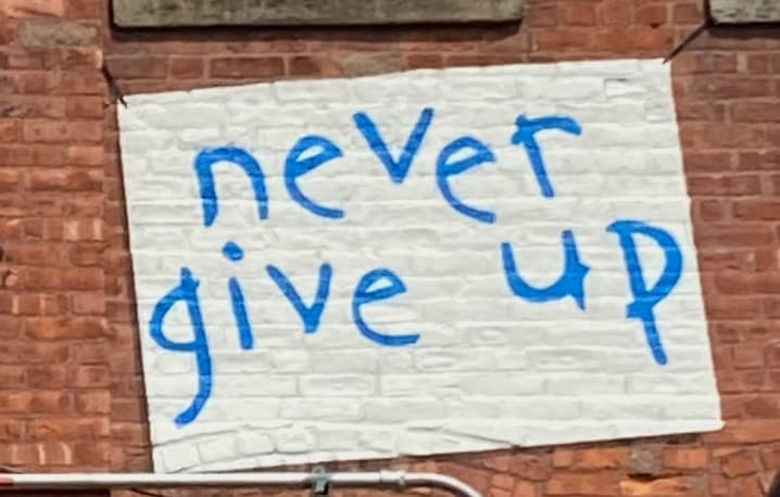 Never Give Up Mural At The Knowlton By Joe Iurato Mural At The Knowlton